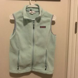 Vineyard vines women's light blue vest